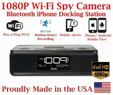 AES SPY CAMERAS 1080P WIFI Wireless Docking Station Spy Camera Covert Nanny Cam