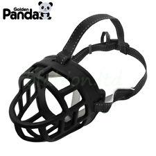 Large Medium Dog Basket Muzzle Soft Silicone Mesh Cage No Barking Biting Chewing