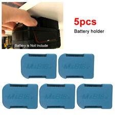 5x For MAKITA 18V Battery Mounts Storage Shelf Rack Stand Holder ABS Black/ Blue