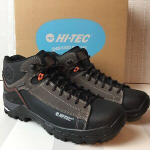 HI-TEC Men's Chocolate Brown/Burnt Orange Trail OX Chukka I WP Boots UK8 NEW