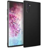 Hülle für Samsung Galaxy Note 10 Schutzhülle Handy Hülle Slim Case Matt Schwarz