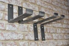 Scaffold board heavy duty shelf brackets industrial rustic handmade metal SS/SU