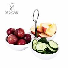 Singkasa 3-Compartment-Porcelain Modern tabletop Serving Trays for Parties,