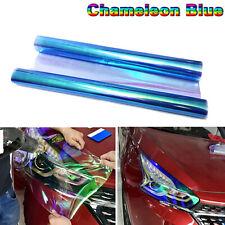 12X48 Chameleon Blue Headlight Tail Lamp Tint Vinyl Film Overlay Wrap Sheet