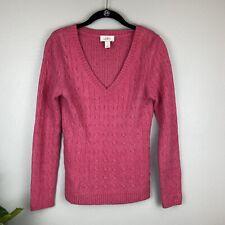 LOFT Cable Knit V-neck Sweater, S