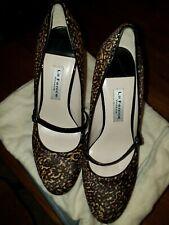 La Fenice Leopard Print Mary Jane Heels Size 8.5