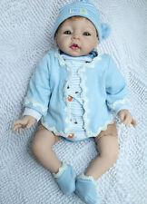 Silicone Vinyl Soft Gentle Touc Cloth Body bebe Reborn Baby handmade gift 22''