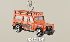 Custom Orange Land Rover Range Rover Defender 110 Christmas Ornament 1/64 Adorno