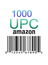 1000 UPC EAN Codes Amazon Barcode Number GS1 Barcodes