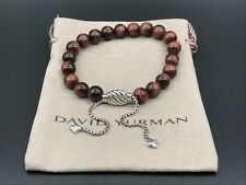 DAVID YURMAN Spiritual Bead Bracelet Sterling Silver With Red Tiger's Eye 8mm