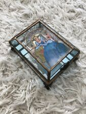 Cinderella Art Nouveau The Art of The Disney Princess Glass Jewelry Box RARE