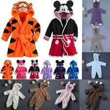 Baby Kids Girls Boys Winter Robe Sleepwear Soft Cartoon Animal Pajamas Nightwear