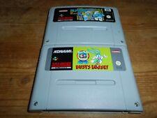 2 Games: Schlümpfe 2 + Tiny Toons Buster - Modul/cartridge Super Nintendo SNES