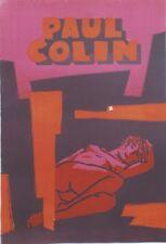 """""""PAUL COLIN"""" Planche litho numérotée 14/30 originale"""
