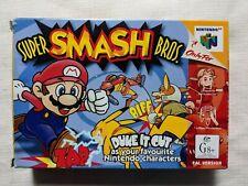 Super smash bros boxed Protector Nintendo 64 PAL TRACKED POST M