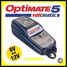 OptiMate 5 Battery Charger Voltmatic Motorcycle Optimiser 6v 12v 2.8a 120AH AGM