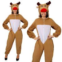 REINDEER COSTUME CHRISTMAS ADULTS UNISEX XMAS RUDOLPH MENS LADIES FANCY DRESS
