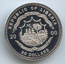 G0360 Liberia 20 Dollars 2000 Silber KM#905 US Präsident George Busch 1989-1993