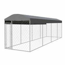 vidaXL Outdoor Dog Kennel with Roof 8x2m Patio Pet House Cage Play Centre