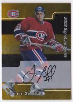 01-02 BAP Signature Series Francis Bouillon Auto GOLD Canadiens 2001