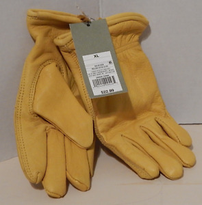 Goodfellow & Co Gloves Men's Belly Side Cow Leather Nylon Lined Yellow X-Large