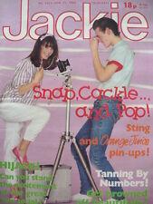 JACKIE MAGAZINE 25TH JUNE 1983 - STING - JOBOXERS - ORANGE JUICE