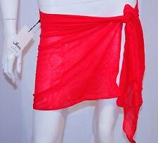 SHAN Designer Cover Wrap PAREO Red SWIMWEAR Skirt 2/M FREE SHIPPING