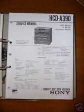Service Manual Sony HCD-A390 Hi-Fi System, Original