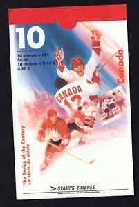 Canada 1997 Hockey Series of the Century booklet Unitrade #BK201b VFMNH CV$11.00