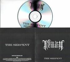 RISE TO REMAIN The Serpent 2011 UK 1-trk promo test CD