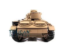 100% Metal Mato 1/16 Panzer III RC Tank KIT Infrared Barrel Recoil Yellow 1223