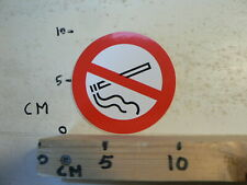 STICKER,DECAL NIET ROKEN ROND 10 CM