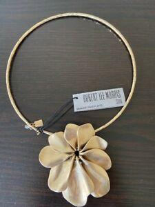 Robert Lee Morris Soho Gold plated Flower Collar Necklace