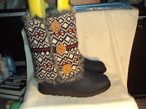 Women's Mid-Calf Boots with Reversible Sleeves by Muk Luks - New with Tag - Sz 9