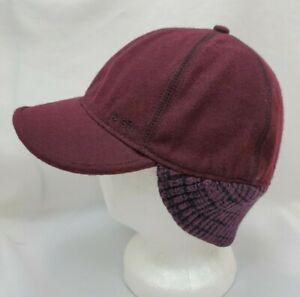Pistil Womens Wool Newsboy Flatcap Cabbie Cap Hat One Size Purple Knit Ear Flaps