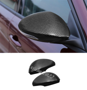 Real Carbon Fiber Side Rearview Mirror Cover Trim For Alfa Romeo Stelvio 2017-19