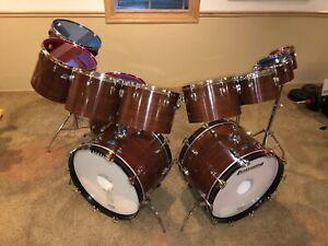 1976 Mahogany Cortex Ludwig Octaplus Drum Set