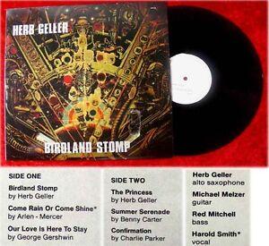 LP Herb Geller: Birdland Stomp (1986)