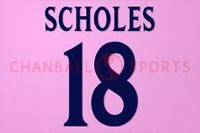 scholes #18 1999-2001 manchester united cl nameset awaykit druck