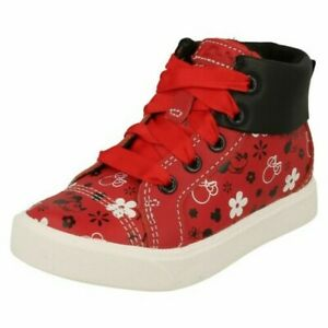 "Girls Clarks Disney Minnie Mouse Detailed Trainers ""City mouse T"""