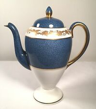 Wedgwood Whitehall-Powder Blue Band Coffee Pot 8 1/2 Inches 5 Cup