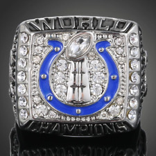 Indianapolis Colts Super Bowl Men's Ring In 925 Sterling Silver & Shiny White CZ