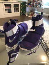 MEN'S NIKE Lebron Zoom Soldier 10x Purple/White