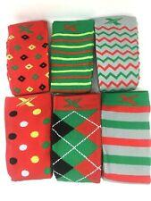 Extreme Fit Unisex Holiday Knee High 6-Pack Socks Small / Medium