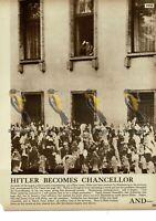 Hitler Becomes German Chancellor, 1933, Book Illustration, 1938