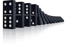DOMINOES PLAY GAMES DOUBLE NINE NON TOXIC BOX SET MATCH COLOR SPOT TRAIN 28 TILE