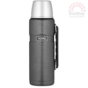 THERMOS Stainless King Hammertone 1.2L Vacuum Insulated Beverage Bottle Flask!