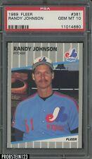 1989 Fleer #381 Randy Johnson Montreal Expos RC Rookie HOF PSA 10 GEM MINT