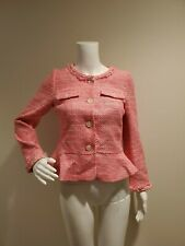 NWT J Crew Peplum Lady Jacket Neon Pink Tweed 0