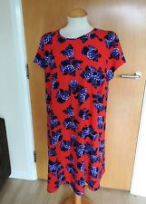 Ladies Tunic Dress Size 18 Red Purple Smart Party Evening Wedding